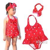 (萬聖節)女童連身泳裝小童小孩1-2-3-4-5-6歲女寶寶溫泉可愛兒童女孩泳裝