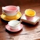 [超豐國際]蝴蝶結陶瓷浮雕 奶湯碗 雙耳...
