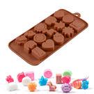 wei-ni 矽膠模 人物動物造型 15連 蛋糕模 矽膠模具 巧克力模型 冰塊模型  製冰盒 餅乾模具