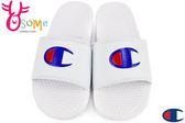 Champion拖鞋 現貨 大Logo 運動拖鞋 情侶拖鞋C9959#白色◆OSOME奧森鞋業