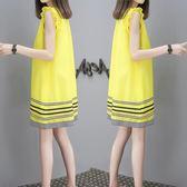 正韓娃娃裙夏pphome18冷淡風心機裙子設計感學生減齡無袖連衣裙女 雙12鉅惠 聖誕交換禮物