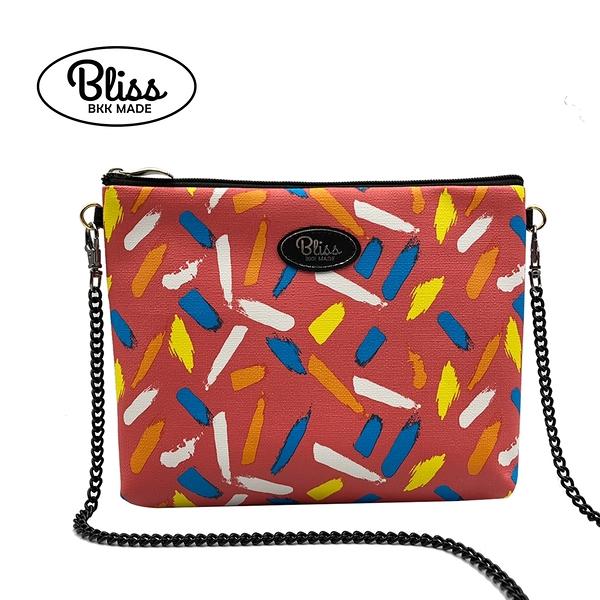【現貨在台】泰國Bliss BKK 橘紅底彩繪 4款背帶可選 現貨供應中