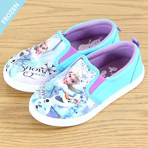 女童 Frozen 冰雪奇緣 艾莎公主 雪寶 套腳式包鞋 室內鞋 幼稚園鞋 兒童休閒鞋 帆布鞋 MIT製造 59鞋廊
