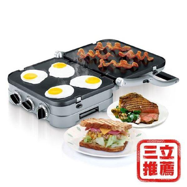 【美國Cuisinart 美膳雅】多功能燒烤機GR-4NTW-電電購