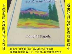 二手書博民逛書店I罕見want my son to know thisY314746 Douglas Pagels Blue