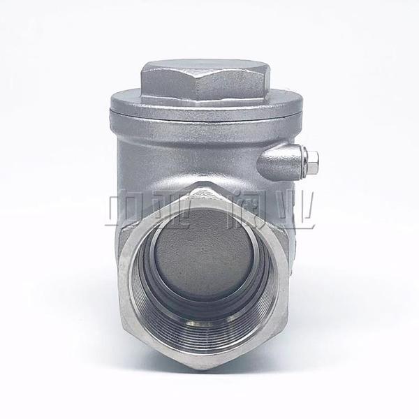 304不銹鋼止回閥H14旋啟立臥式單向逆止閥真空水泵水管4分6分1寸