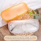 【買一送一】眼鏡盒女優雅男生創意塑料透明便攜眼睛盒【古怪舍】