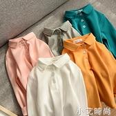簡約純棉POLO衫 兒童純棉長袖T恤 男童女童裝 秋裝 山東網店 小艾新品