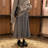 碎花洋裝 秋裝韓國女裝寬鬆百搭中長款顯瘦碎花半身裙復古高腰A字休閒裙 免運費