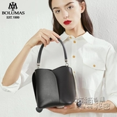 夏季簡約復古質感小包包女2020新款潮韓版百搭手提斜背包/側背包時尚水桶 雙十二全館免運