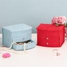 首飾盒抽屜式絨布歐式精致首飾盒珠寶首飾品【聚寶屋】