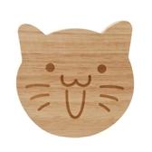 貓咪造型原木杯墊