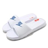 Nike 拖鞋 Victori One Slide 白 藍 Q彈中底 男鞋 女鞋 基本款【ACS】 CN9675-102