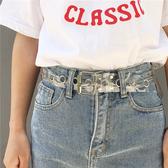 腰帶 透明腰帶女 百搭chic 凹造型單品寬皮帶 透明塑料腰帶 街拍搭 小天後