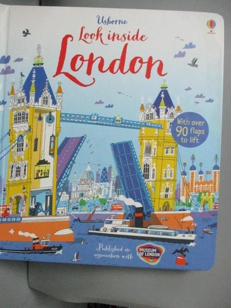 【書寶二手書T5/少年童書_WDW】Look Inside London_Jonathan Melmoth,Peter Allen
