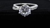 【御鑽利保】凡購買30分以上 一年內八折回收 一年後全折回收 華麗線條GIA F color 50分18K金鑽石戒指