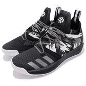 adidas 籃球鞋 Harden Vol.2 Traffic Jam 黑 白 特殊紋路 BOOST中底 哈登 男鞋【PUMP306】 AH2217