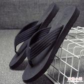 拖鞋男夏季防滑沙灘鞋時尚外穿個性涼鞋室外涼拖潮軟底夾腳人字拖