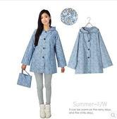 日韓 時尚 雨衣 成人 小碎花 女款 短款 超輕薄