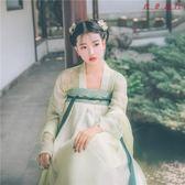 國色芳華傳統漢服女齊胸對襟襦裙繡花 衣普菈