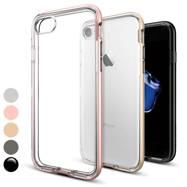 【贈9H玻璃貼】SPIGEN 韓國 SGP iPhone 8 7 4.7吋 Neo Hybrid Crystal CC 雙件式 強化邊框手機保護殼 i7 i8