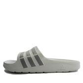 Adidas Duramo Slide [B44298] 男女 運動 涼鞋 拖鞋 休閒 舒適 輕量 灰 白 愛迪達