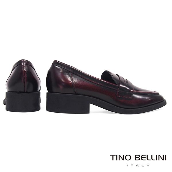 Tino Bellini義大利進口文藝擦色牛皮樂福鞋_紅 B79202 歐洲進口款