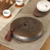 七子餅茶盒粗陶裝茶葉罐子陶瓷普洱茶餅一收藏收納盒大號密封醒茶