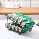 可樂架 創意聽裝啤酒架雙層冰箱飲料置物架桌面易拉罐整理收納架 「夢幻小鎮」