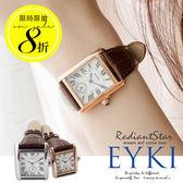 韓國EYKI傾城愛戀羅馬刻度復古皮革手錶 對錶【WEY8865】璀璨之星☆