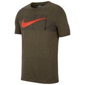 Nike 男圖案圓領上衣(卡其色綠色)