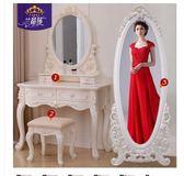 梳妝台歐式臥室迷妳多功能實木小戶型簡約現代網紅經濟型化妝桌60歐歐流行館