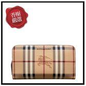 BURBERRYHAYMARKET格紋拉鍊/淺接骨木莓色40606961全新商品