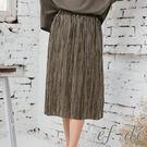 【UFUFU GIRL】氣質感百褶長裙,交錯期間的亮眼線條更顯高雅!