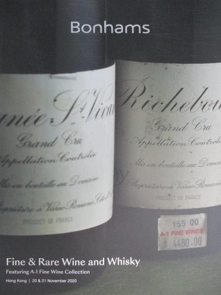 【書寶二手書T6/收藏_DZM】Bonhams_Fine & Rare Wine and Whisky_2020/11/20-21