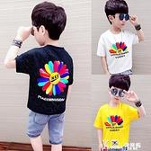 男童短袖T恤小雛菊夏裝2021新款兒童中大童上衣半袖體恤夏季童裝