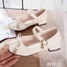 女童公主鞋 女童皮鞋春秋季新款韓版中大童寶寶公主鞋小女孩軟底兒童單鞋 韓菲兒
