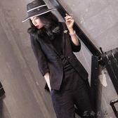 韓版職業棉麻修身顯瘦外套西裝