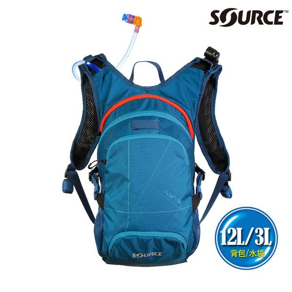 SOURCE 戶外健行水袋背包 Fuse 12L 2054129212 (12L/水袋3L) / 登山 單車 自行車 跑步 補水 抗菌
