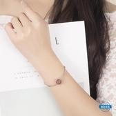 手鍊天然草莓晶根管手鐲女韓版學生手鍊簡約清新生日禮物