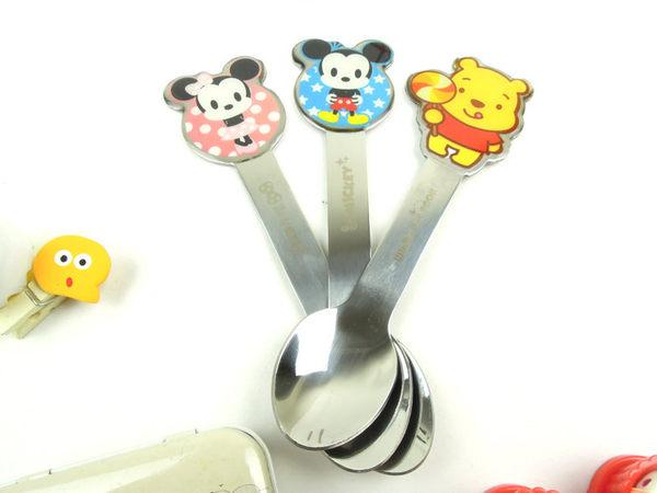 正版迪士尼 兒童不銹鋼造型湯匙-1入 另有 餐具組 碗 筷子 湯匙【cZ思考家】