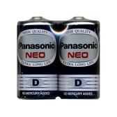 Panasonic 國際牌 1號碳鋅電池黑色 環保型2入
