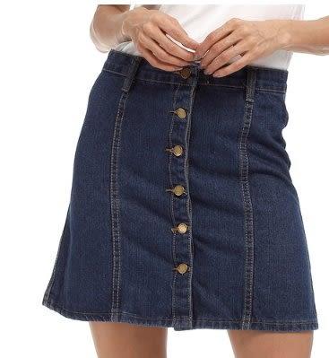 現貨藍色XL牛仔半身裙9028韓版百搭半身裙短裙 依品國際