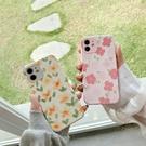 ins油畫小黃花iphone 12 11 Pro Xs Max XR SE i8 i7 i6sPlus全包邊防摔手機殼套
