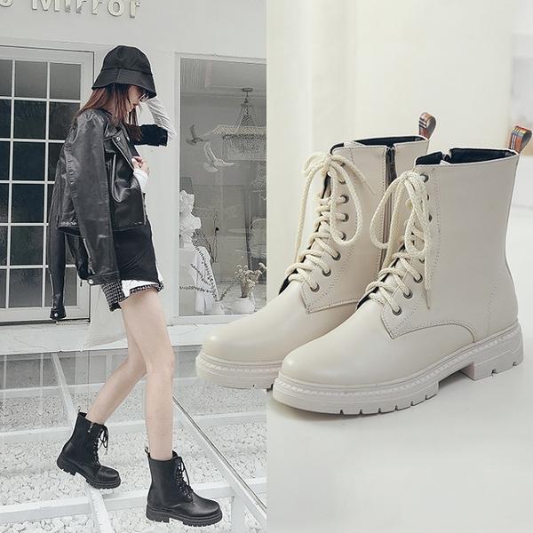 大尺碼女鞋34~43 2020時尚經典設計馬丁靴 短靴子~2色