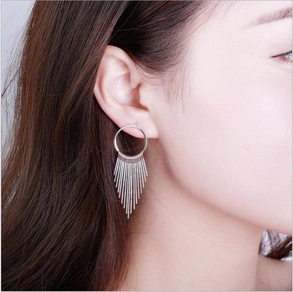 圓圈 多層 長短 流蘇 耳釘 復古 時尚 耳飾 爆款