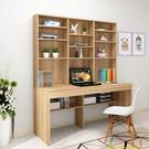 電腦桌現代簡約台式書架一體桌家用經濟型書...
