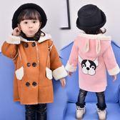 女童冬季外套冬裝韓版女寶寶加絨加厚1-3歲嬰兒風衣女孩呢大衣潮 CY潮流站