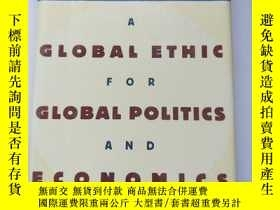 二手書博民逛書店Hans罕見kung:a global ethic for gl