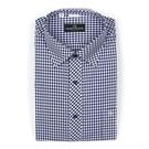 【南紡購物中心】【PIERRE BALMAIN 皮爾帕門】長袖襯衫-深藍小格紋(F1)